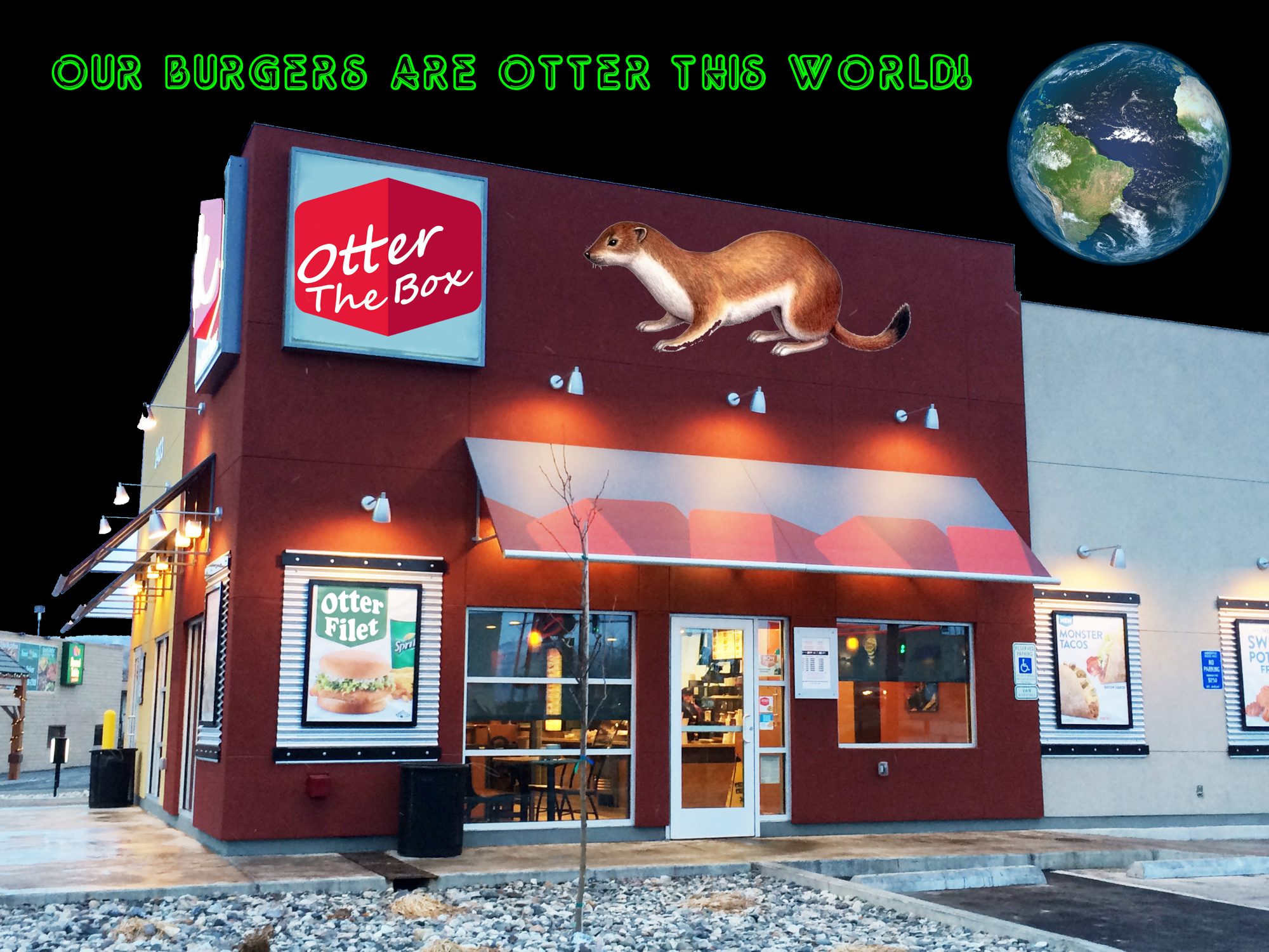 Our burgers are otter this world!