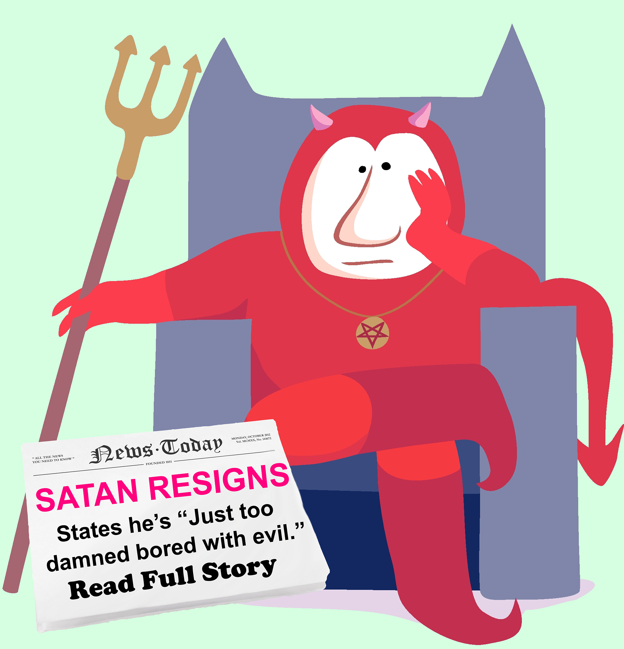 Satan Steps Down As Devil